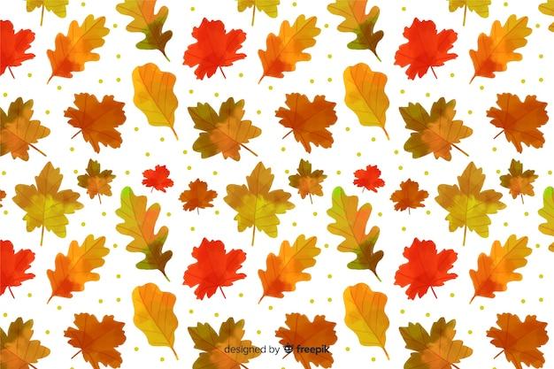 Herbstlaubhintergrund-aquarellart Kostenlosen Vektoren