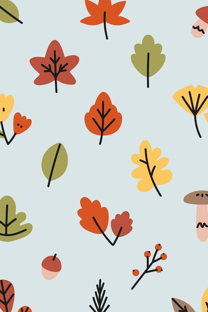 Herbstmuster Kostenlosen Vektoren