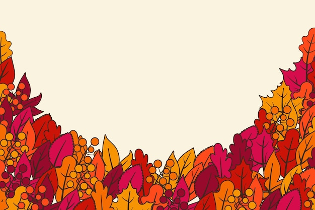 Herbsttapetenentwurf Kostenlosen Vektoren