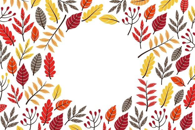 Herbsttapetenkonzept Kostenlosen Vektoren