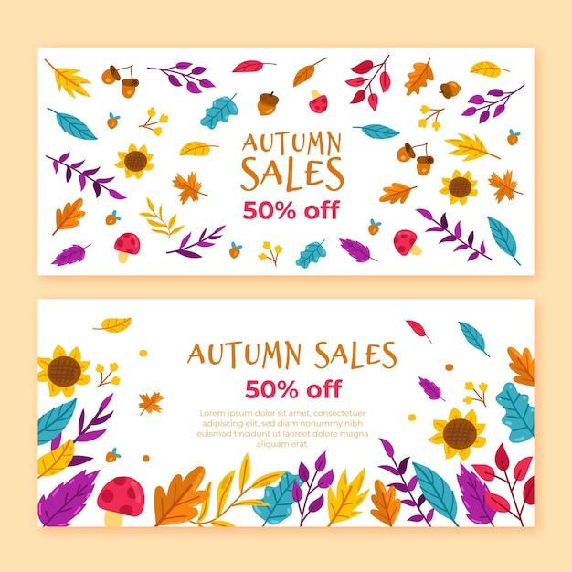 Herbstverkauf banner Kostenlosen Vektoren