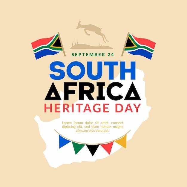 Heritage day (südafrika) in flachem design Kostenlosen Vektoren