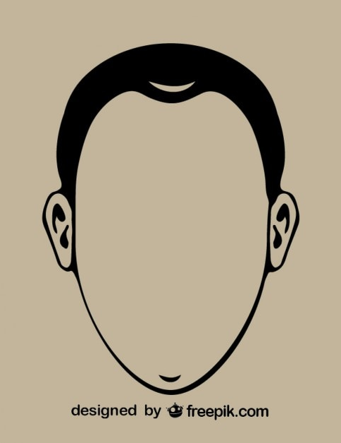 Herr Kopfkontur Symbol   Download der kostenlosen Vektor