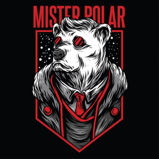 Herr polar illustration Premium Vektoren