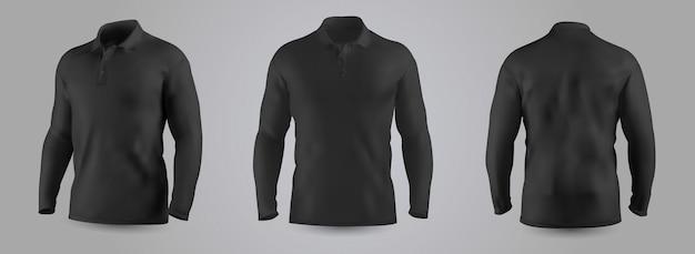 Herren sweatshirt mit langarm-modell. Premium Vektoren