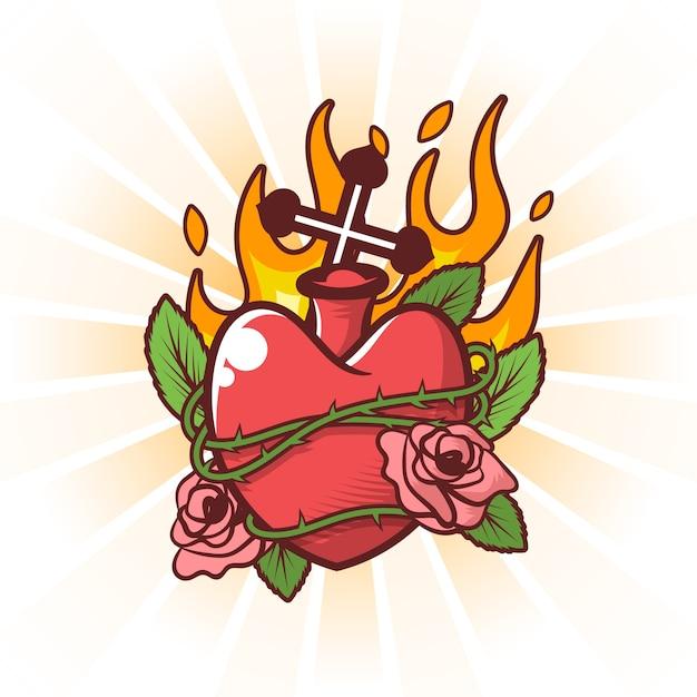 Herz-jesu-konzept Kostenlosen Vektoren