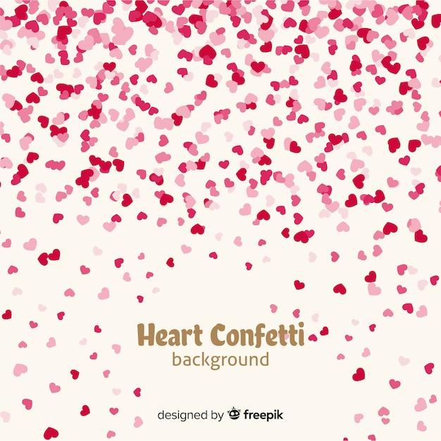 Herz Konfetti Hintergrund Kostenlose Vektoren