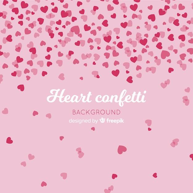 Herz konfetti hintergrund Kostenlosen Vektoren