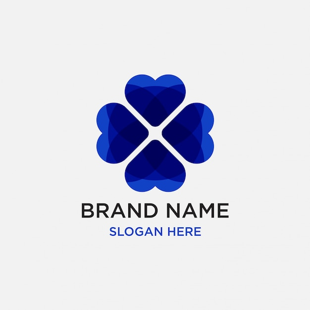 Herz liebe logo design-vorlage Premium Vektoren