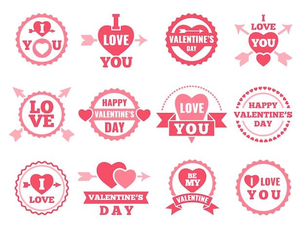 Herz, lippen und andere liebessymbole. Premium Vektoren