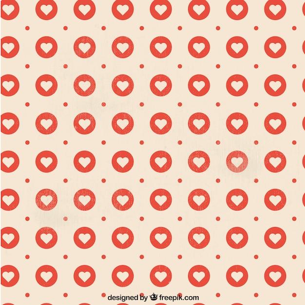 Herz-Muster in stempel | Download der kostenlosen Vektor