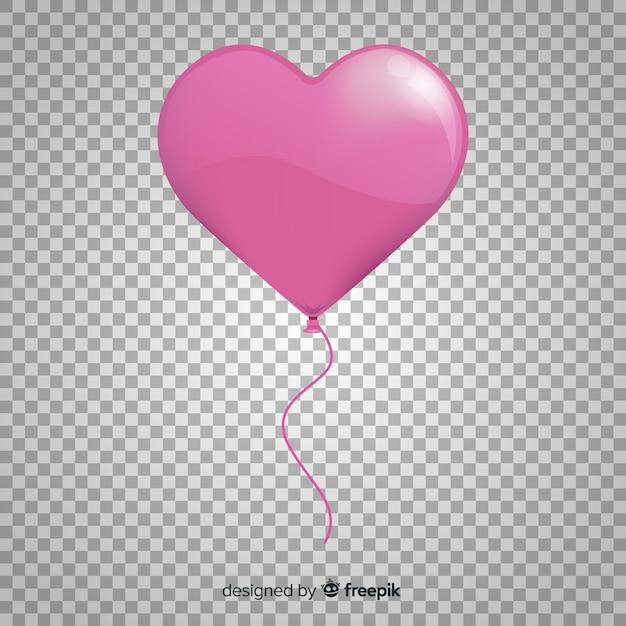 Herzballon transparenter hintergrund Kostenlosen Vektoren