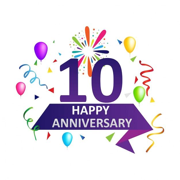 Herzlichen Glückwunsch Zum Zehnjährigen Jubiläum Premium
