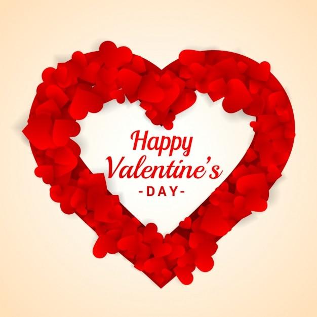 Schön Herzrahmen Für Valentinstag Kostenlose Vektoren