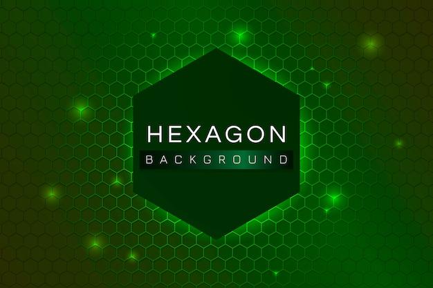 Hexagon gemusterten hintergrund Kostenlosen Vektoren