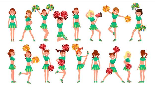 High-school-beruf cheerleading teams Premium Vektoren