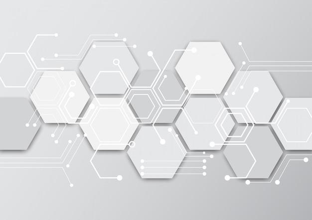 High-tech-technologie geometrisch Premium Vektoren