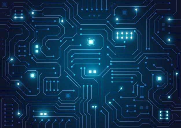 High-tech-technologie geometrischen hintergrund Premium Vektoren