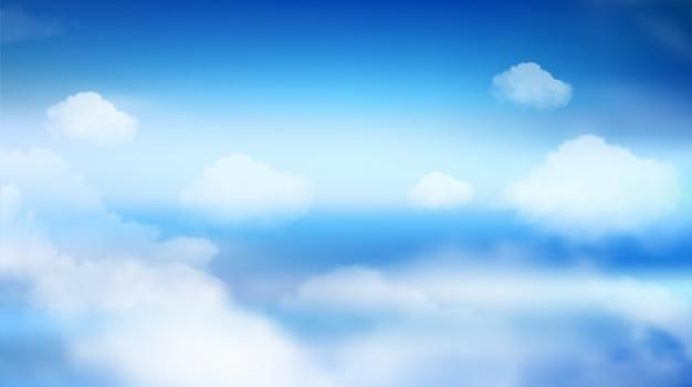Himmel natur landschaft hintergrund. vektor eps10. Premium Vektoren