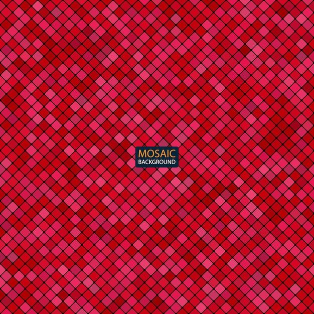 Hintergrund abstrakte mosaik des gitters pixelmuster und quadrate rote farbe Premium Vektoren