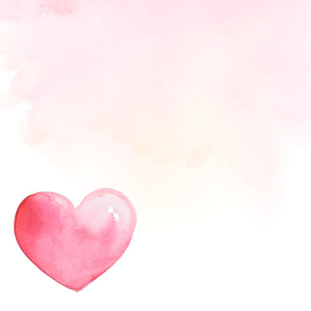 Hintergrund-aquarellartvektor des valentinstags hintergrund Kostenlosen Vektoren