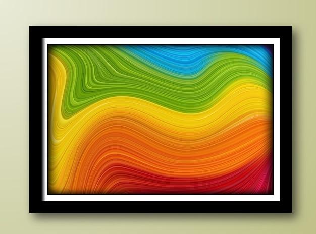 Hintergrund der abstrakten malerei Premium Vektoren