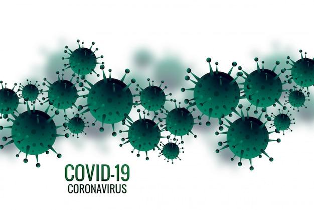 Hintergrund der bakterien- oder coronavirus-infektionsgrippe Kostenlosen Vektoren