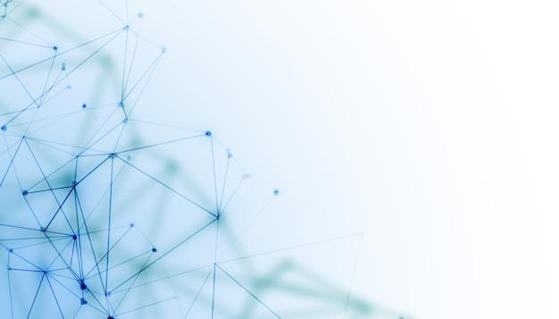 Hintergrund der digitalen technologie von network mesh wire Kostenlosen Vektoren