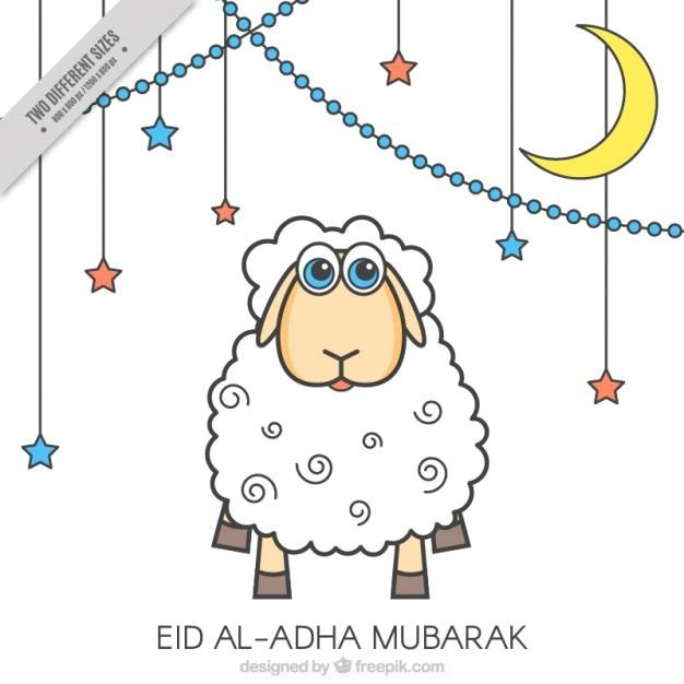 Hintergrund der eid al-adha Kostenlosen Vektoren