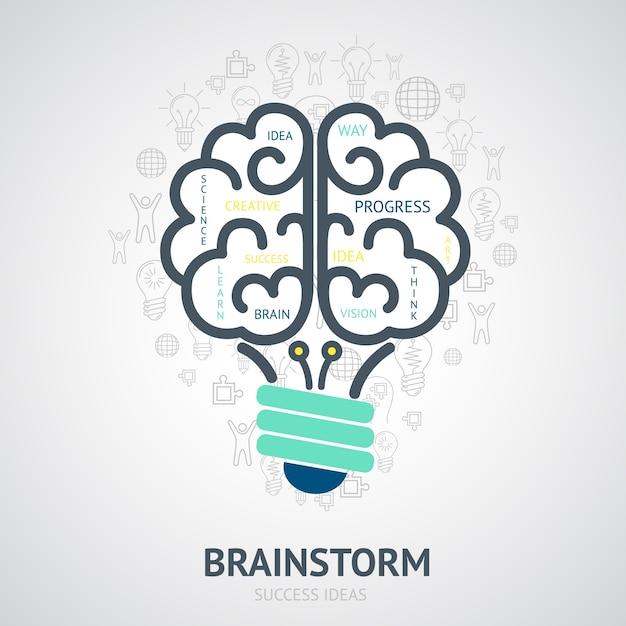 Hintergrund der Erfolg Ideen Kostenlose Vektoren