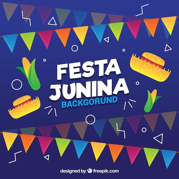 Hintergrund der festa junina feier Kostenlosen Vektoren