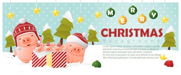 Hintergrund der frohen Weihnachten und des guten Rutsch ins Neue ...