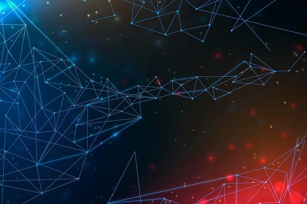 Hintergrund der gradienten-netzwerkverbindung Premium Vektoren