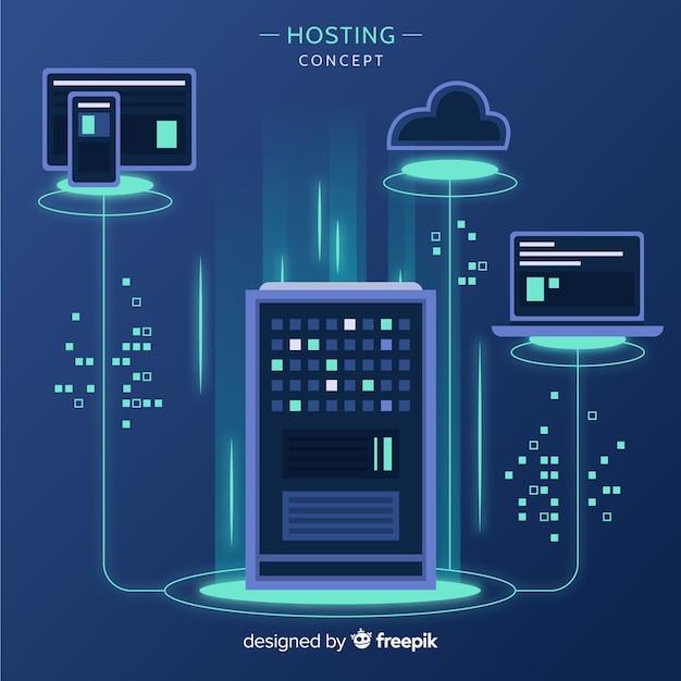 Hintergrund der hosting-services Kostenlosen Vektoren