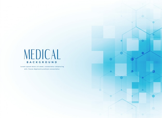 Hintergrund der medizinischen wissenschaft in der blauen farbe Kostenlosen Vektoren