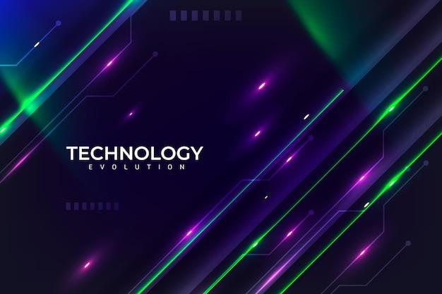 Hintergrund der neontechnologie-evolution Kostenlosen Vektoren