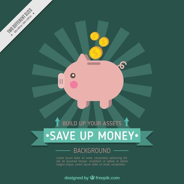 Hintergrund der sparschwein in flaches design download for Meine wohnung click design free