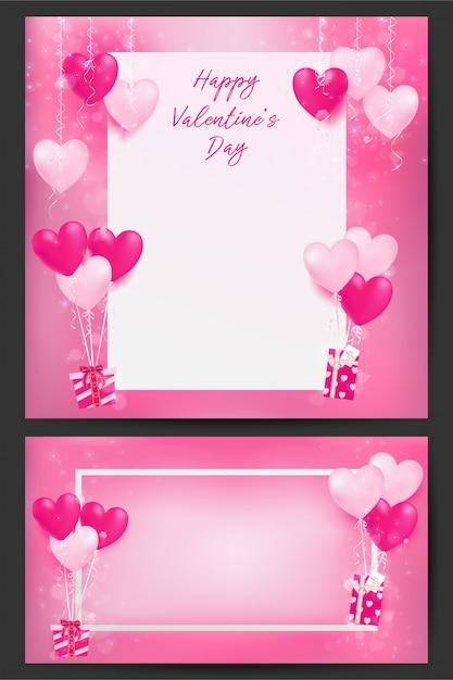 Hintergrund der valentinstagillustration mit süßen pastelldekoren Premium Vektoren