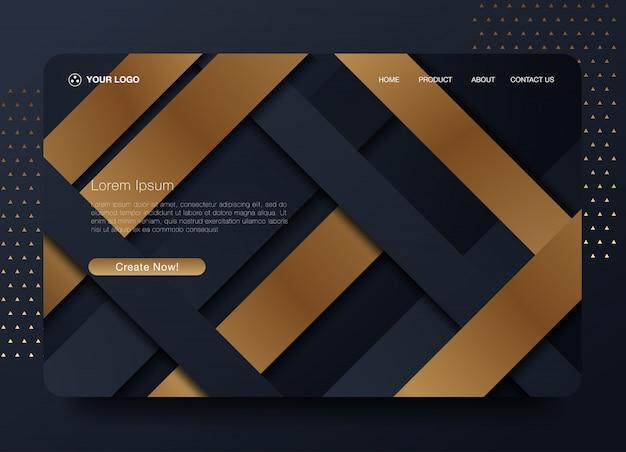 Hintergrund der website-zielseite Premium Vektoren