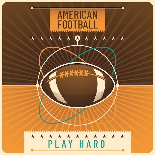 Hintergrund des amerikanischen fußballs Premium Vektoren