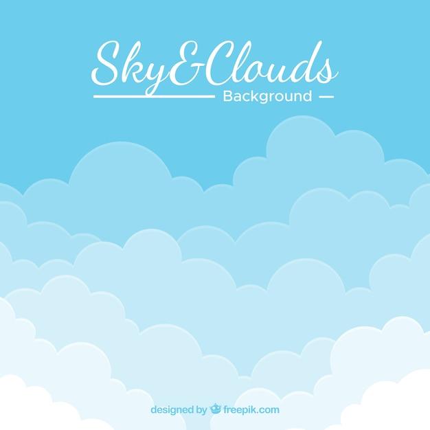 Hintergrund des bewölkten himmels in der flachen art Kostenlosen Vektoren