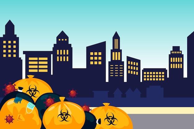 Hintergrund des coronavirus-abfalls Kostenlosen Vektoren