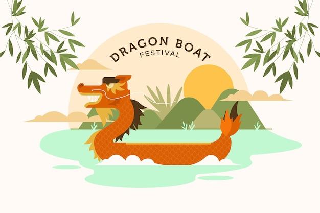 Hintergrund des drachenbootfestivals Kostenlosen Vektoren