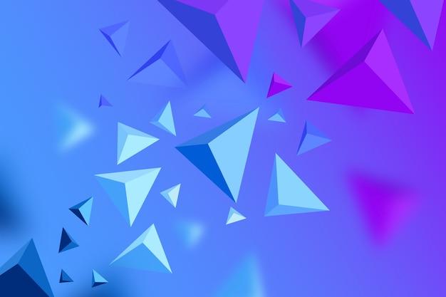 Hintergrund des dreiecks 3d mit klaren farben Kostenlosen Vektoren