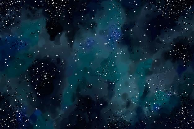 Hintergrund des dunklen himmels des aquarells Kostenlosen Vektoren