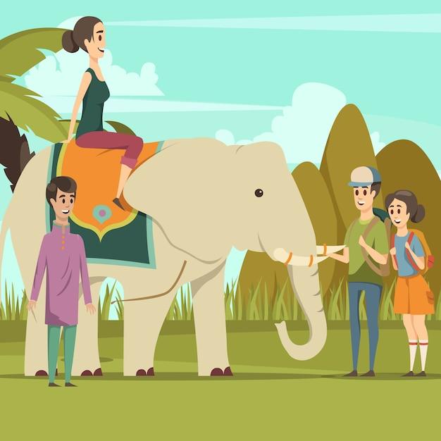 Hintergrund des indischen elefanten Kostenlosen Vektoren