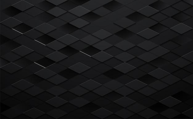 Hintergrund des schwarzen quadrats 3d Premium Vektoren