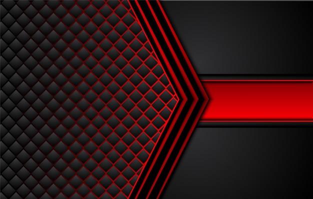 Hintergrund des technischen innovationskonzepts des abstrakten metallisch roten schwarzen entwurfs. Premium Vektoren