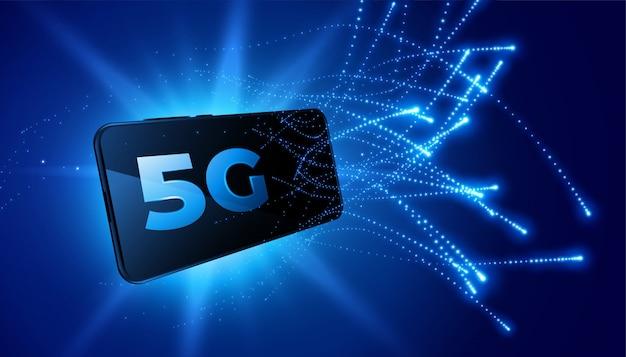 Hintergrund des telekommunikationsnetzes der fünften generation der mobiltechnologie Kostenlosen Vektoren