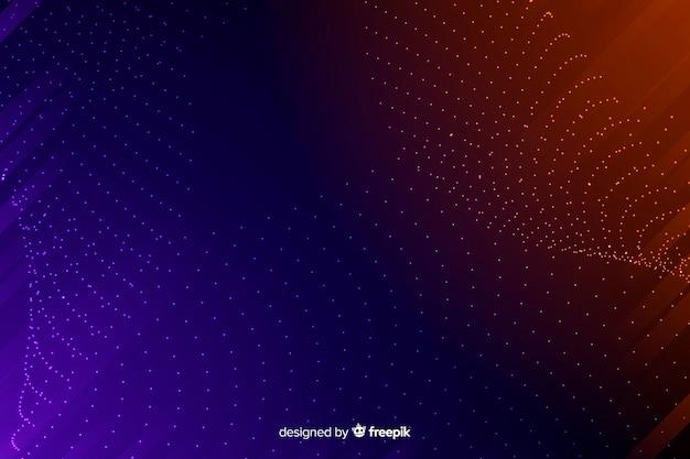 Hintergrund-farbverlaufspartikel Kostenlosen Vektoren